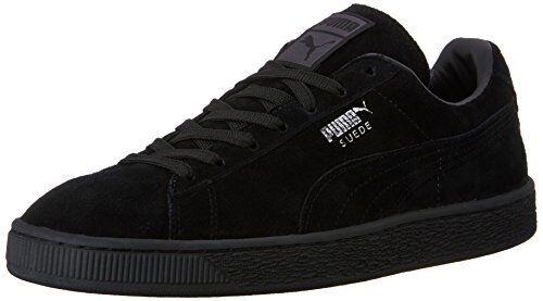 PUMA Suede Classic Sneaker,Black,12.5 M US Womens 11 Mens