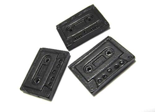 3x cintas botones miniblings botón tape casete de música músico música cinta de musica