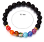 7-Chakra-Bracelet-Lava-Healing-Stones-Beaded-Gemstones-Beads-Elastic-Yoga thumbnail 19