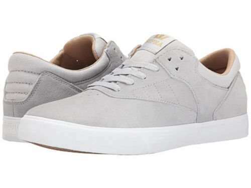 SUPRA S25024 PHOENIX Mn's (M) Light Grey/White Suede/Canvas Low Top Skate Shoes