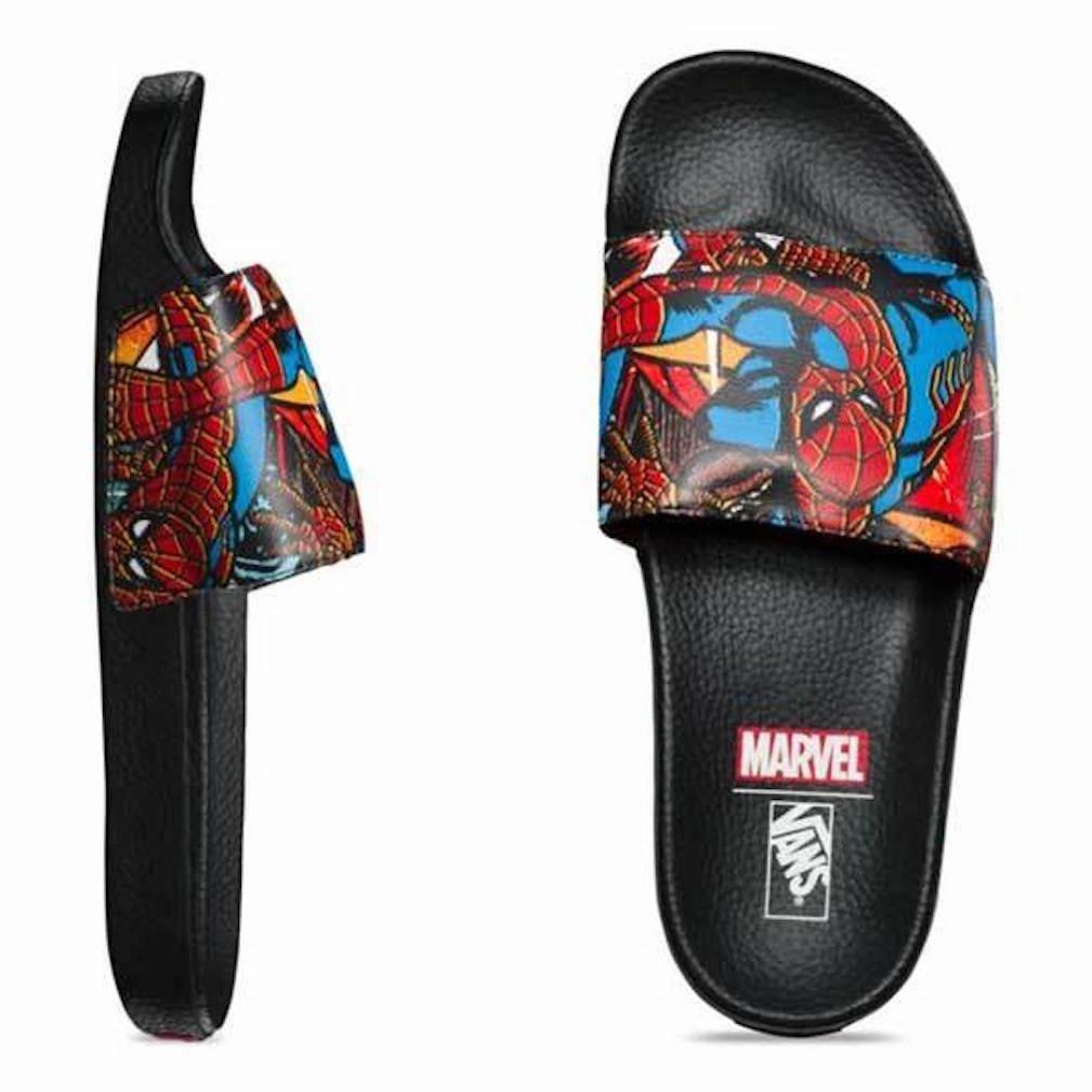 NEW Vans Marvel Mens Spiderman Slide Sandals Size 11