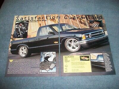 "1994 Chevy S-10 Custom Pickup Truck Artikel "" Satisfaction Guaranteed Zoll Mit Einem LangjäHrigen Ruf"