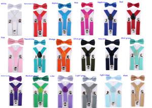 Kids-Suspenders-Bowtie-Fashion-Bow-Tie-Set-Boys-Braces-Girl-Adjustable-Accessory