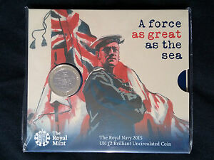 New-Royal-Navy-2015-Uk-2-Pound-Brilliant-Uncirculated-Coin
