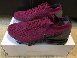 Details about Nike Air Vapormax Flyknit 2 Women's sz 6 Raspberry Red Black 942843 603