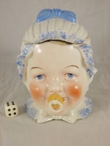 Antique-Porcelain-Lid-Box-Figurative-Baby-Toddler-Girl-Um-1900-Stamped