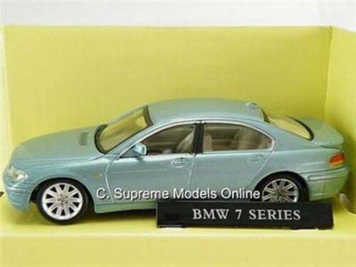 BMW Série 7 berline échelle 1//43RD Bleu 4 portes ISSUE Comme neuf boxed K8967Q +