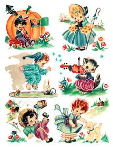 Image Is Loading Vintage Retro Children Nursery Rhymes Transfers Waterslide