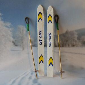 Details Zu 1 Paar Miniatur Ski Skistöcke Gutschein Basteln Winterurlaub 10 Cm Geschenk Deko