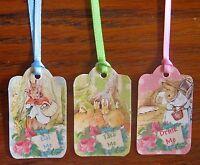 Beatrix Potter 24 Eat Me Drink Me Take Me Tags Pastel Colors Silk Ribbons Shower