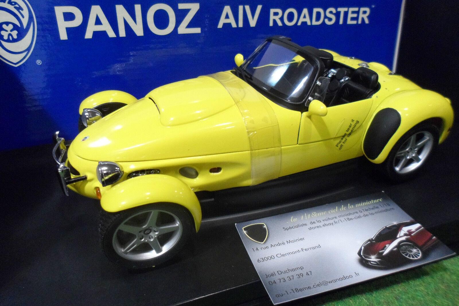 PANOZ AIV ROADSTER 1998 cabriolet jaune jaune 1 18 AUTOart 78213 voit miniature