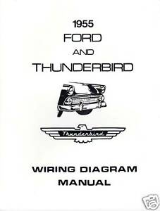 details about 1955 ford thunderbird wiring diagram manual 1955 Chevy Bel Air Wiring Diagram