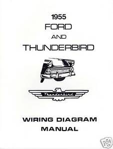 1955 ford thunderbird wiring diagram manual ebay