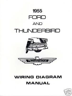 1955 ford thunderbird wiring diagram manual ebay. Black Bedroom Furniture Sets. Home Design Ideas