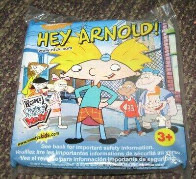 New In Original Packaging Hey Arnold Wendys Kids Meal Toy ARNOLD 2003 Viacom