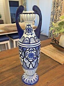 Blue Asian Urn Vase