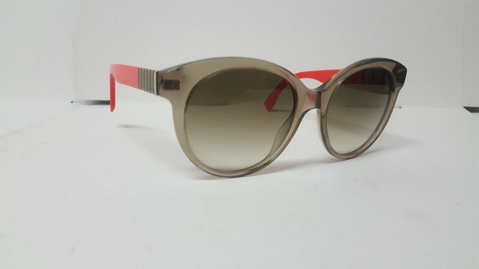 Authentic FENDI FF 0013/S Flared Round Women's Sunglasses in Clear Mud Orange