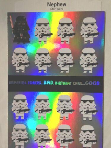 38C STAR WARS NEPHEW  BIRTHDAY CARD TEEN KID BIRTHDAY  HALLMARK w//Env 3 choices