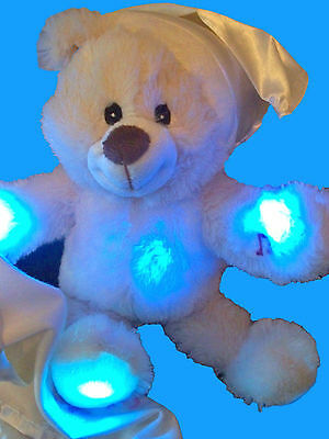 Personalised Teddy Bear  Light up and Melody Baby Gift / Get Well Gift Any Name
