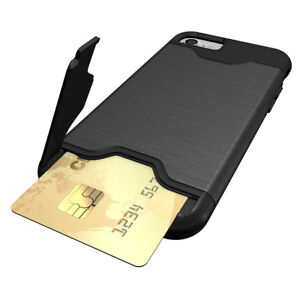 Pour-iPhone-Anti-rayures-Protection-Arriere-Support-Telephone-Etui-Coque-avec-carte-cachee
