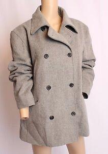 Kaki militare doppio petto cappotto invernale