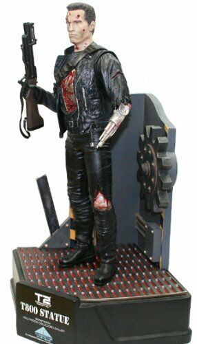 Nuevo T-800 Battle Damaged Con Base De Luz-Up