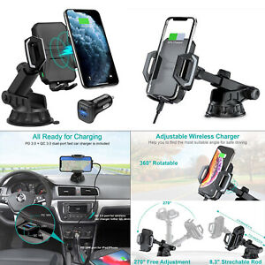 QI-Wireless-Fast-Charger-Car-Cradle-Holder-Mount-for-Galaxy-Note-10-iPhone-SE