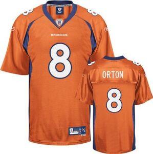 Details about NFL Jersey Denver Broncos Kyle Orton 8 Orange Football Premier Jersey