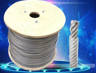 100metres 1.0mm PVC Covered 304 Stainless Steel Wire Rope