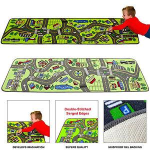 kids play rug carpet city floor roads travel street toy car trucks