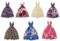 Ladies Retro Vintage 50's Rockabilly Swing Summer Party Pin Up Prom Floral Dress