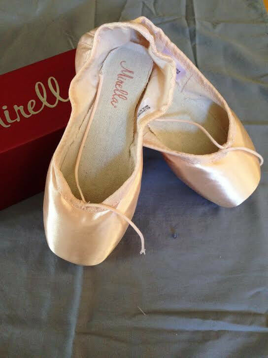 Mirella Avancé Ms101a Point Ballerines Rose, Sz 3,2x Nib Original
