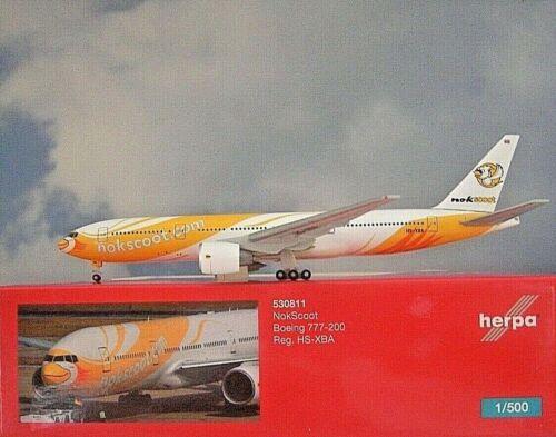 Herpa Wings 1:500 Boeing 777-200 nokscoot HS-XBA 530811 modellairport 500