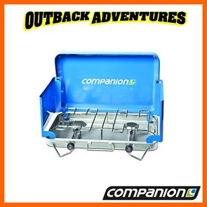 Details about COMPANION RANGER 2 BURNER LP GAS STOVE CAMPING COOKING COMP203