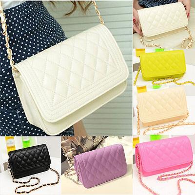 Fashion Women Leather Handbag Messenger Crossbody Purse Chain Shoulder Bag Tote