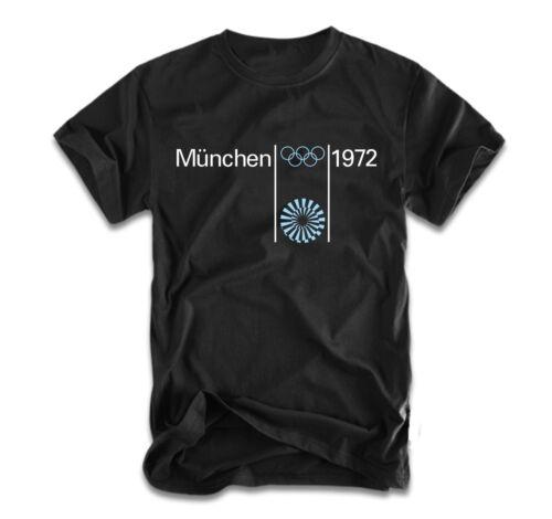 Munchen 1972 T-Shirt Olympic games Germany Munich Black T shirt