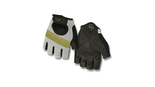 Giro SIV Retro Fahrrad Handschuhe kurz weiß//gelb 2019