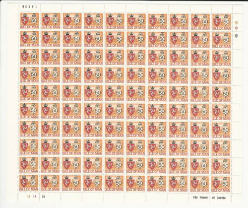 Isle of Man Stamp Collection, #J9J16 Complete Mint NH 8 Sheets, 1975