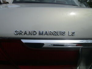 1992-1997 MERCURY /& GRAND MARQUIS GS TRUNK EMBLEMS OEM 2 PIECES