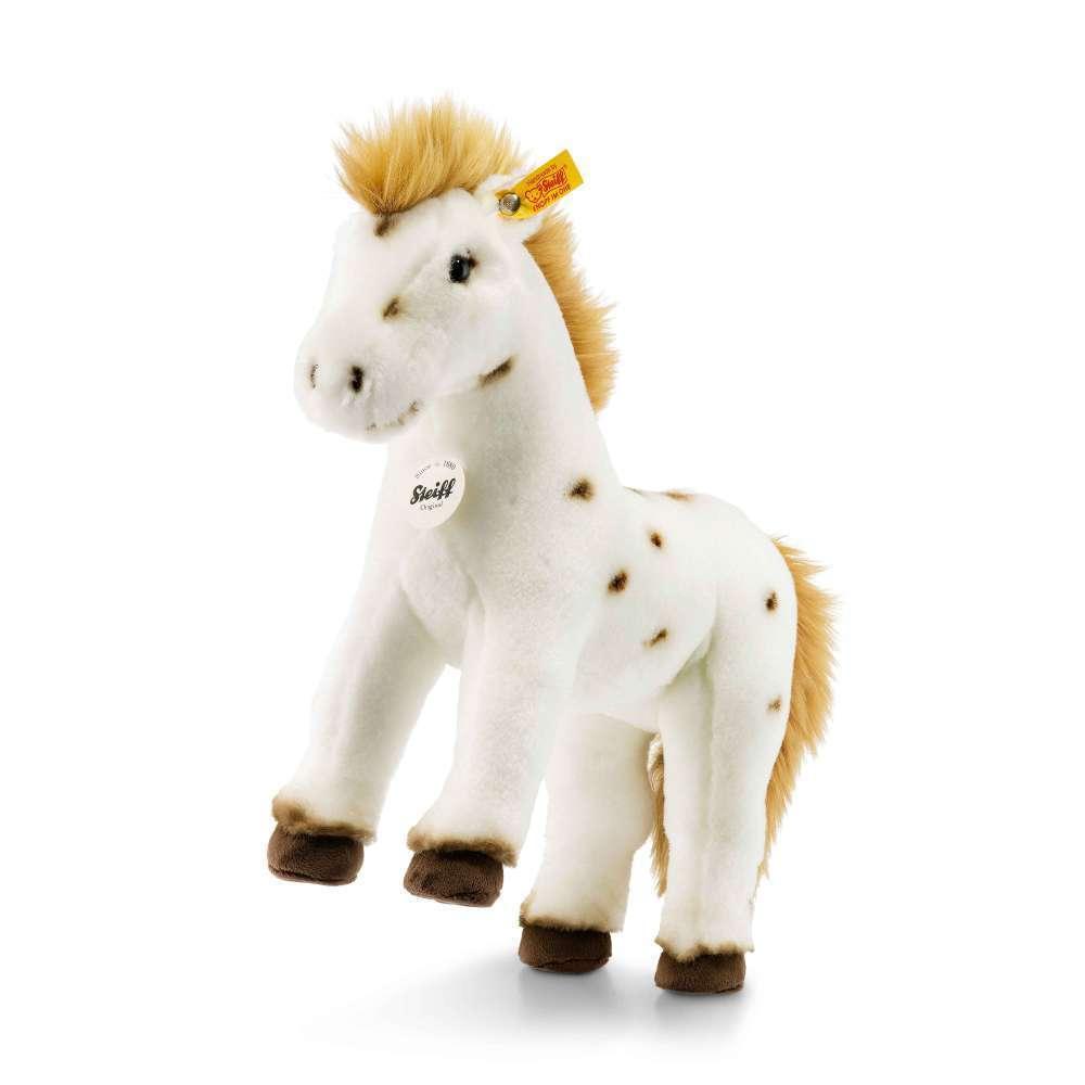 STEIFF 071287 Spotty Pferd 30cm weiß braun stehend Punkte