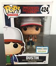 Funko Pop Stranger Things Dustin Brown Jacket Barnes Noble Exclusive #424 RARE