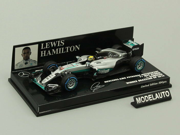 Minichamps 1 43 Mercedes AMG Petronas F1 Lewis Hamilton Vainqueur Grand Prix du Brésil 2016