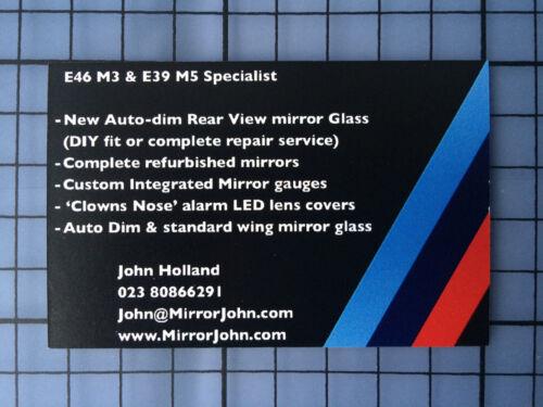 BMW E39 M5 Ovale Auto Sombre Dimming Rétroviseur Verre de Rechange