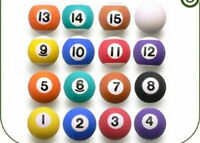 16 Pool Billiard 1 Balls Bouncy Favor Bounce Bouncing Bounce Party Cake Toppers