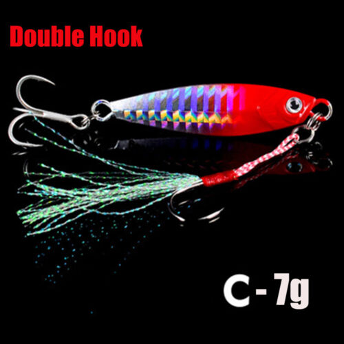 Minnow Lead Casting Jig Bait Spinning Baits Feather Metal Fishing Lures