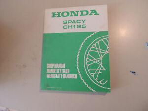 Werkstatthandbuch-Honda-CH-125-Spacy-1984-work-shop-manual-Manuel-d-atellier