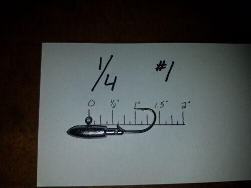 20 1//4oz Spearhead Jigs Eagle Claw Saltwater Hooks #1 thru 4//0 You Choose Size