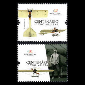Portugal-2016-Anniv-of-the-First-Portuguese-Military-Flight-Aviation-MNH