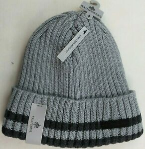 Rainforest Men/'s Beanie Hat Lined Heather Grey Black One Size Ribbed Cuff MRP$38