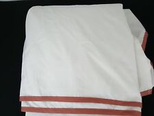 Lenox Bedding Collection Chirp Ivory Coral 100% Cotton King Size Bed Skirt